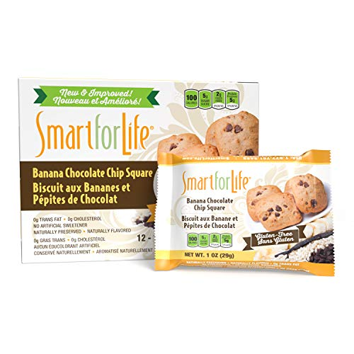 Smart for Life Banana Chocolate Chip Protein Cookies - High Protein Cookie Diet - 36 Count - Meal Replacement - On-the-Go Snack - Low Calorie Super High Fiber Cookies - Protein Snack