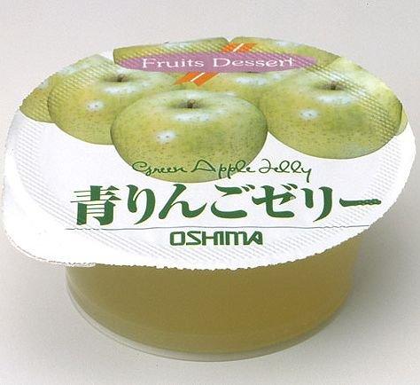 大島食品工業 (学校給食) カップゼリー 青りんご 65g×40個