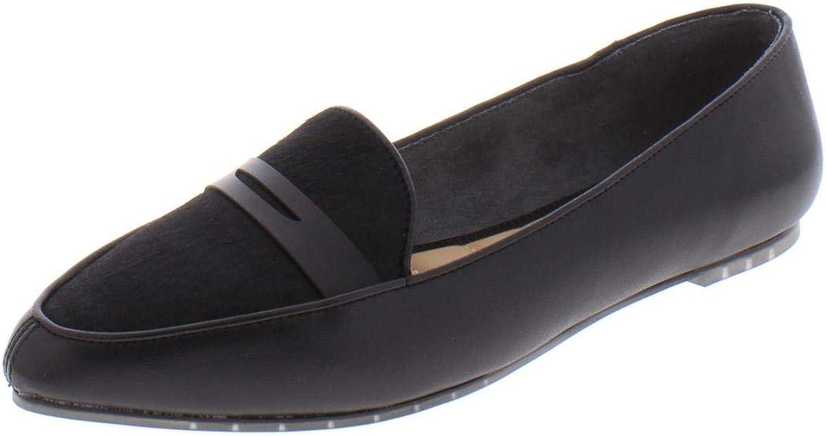 Me Too Womens ADDIECH Calf Hair Leather Loafers Black 11 Medium (B,M)