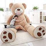 ぬいぐるみ 特大 くま/テディベア 可愛い熊 動物 大きい くまぬいぐるみ/熊縫い包み/クマ抱き枕/お祝い/ふわふわぬいぐるみ (2m) (画像通り)