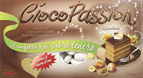 Crispo Confetti Cioco Passion Gianduia - Colore Bianco - 3 confezioni da 1 kg [3 kg]