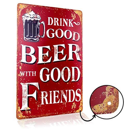 letrero de cerveza motivo retro con refranes vintage letreros de puerta...