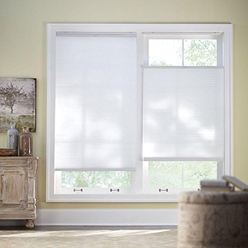 Home Decorators Collection Cut-to-Width Snow Drift 9/16 in.Top-Down Bottom-Up Cordless Cellular Shade - 29 in. W x 72 in. L