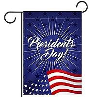 ガーデンフラッグ、アメリカ大統領の日 、季節の屋外旗28x40両面ホームヤード装飾