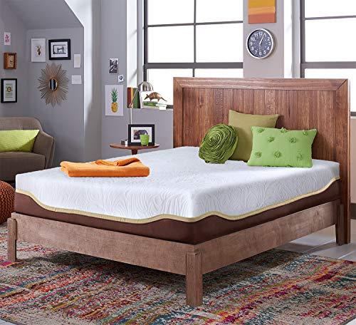 Live & Sleep Elite Twin XL Gel Memory Foam Mattress in a Box - 12 Inch Twin Extra-Long Size Firm Mattress, Cool Bed in a Box, with Luxury Foam Pillow - CertiPUR Certified - Twin XL