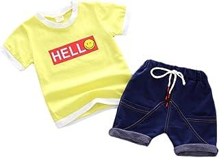 Garçon À Rayures Pyjama ensemble avec short pyjama lit Vêtements NIGHTWEAR taille 5-13 UK
