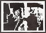 Rambo Poster Sylvester Stallone Plakat Handmade Graffiti