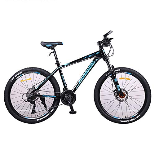 GQFGYYL-QD Mountain Bike with Adjustable Seat and Shock Absorption, 26 Inches Wheels 27 Speed Dual Disc Brake Aluminum Alloy Mountain Bicycle, for Adults Outdoor Riding,1