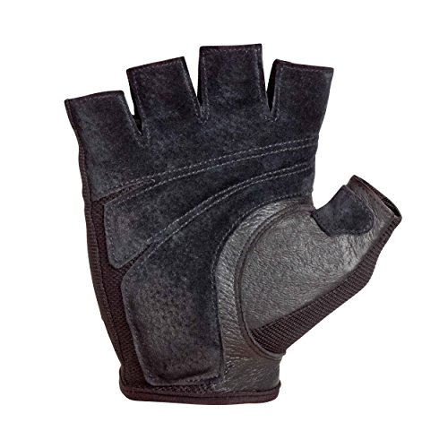 Harbinger Power Non-Wristwrap Weightlifting Gloves with StretchBack Mesh and Leather Palm (Pair), Medium