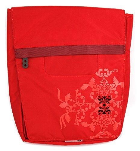 DURAGADGET Bolso Rojo con Print Floral para Portátil Acer Aspire E5-576-392H, Medion Akoya E6439, MSI GV62 8RD-200 - con Múltiples Bolsillos Y Asa De Hombro Ajustable