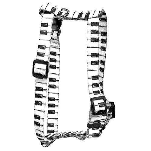 Yellow Dog Design Piano Keys Roman Style H Dog Harness, X-Large-1