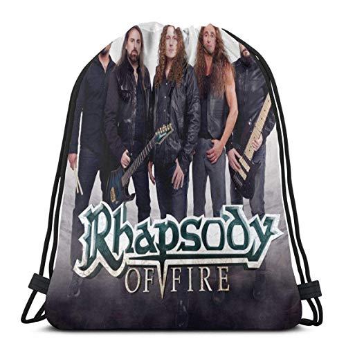 Ahdyr Rhapsody of Fire Wasserdichter Kordelzug-Rucksack für Sport Gym Yoga Sack Taschen für Männer und Frauen Kinder