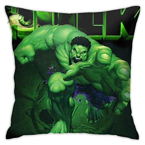 DJNGN Hulk Throw Pillow Covers 18'X 18'Inch Square Shape Decorative Cushion Cover for Couch Sofa Pillow Set