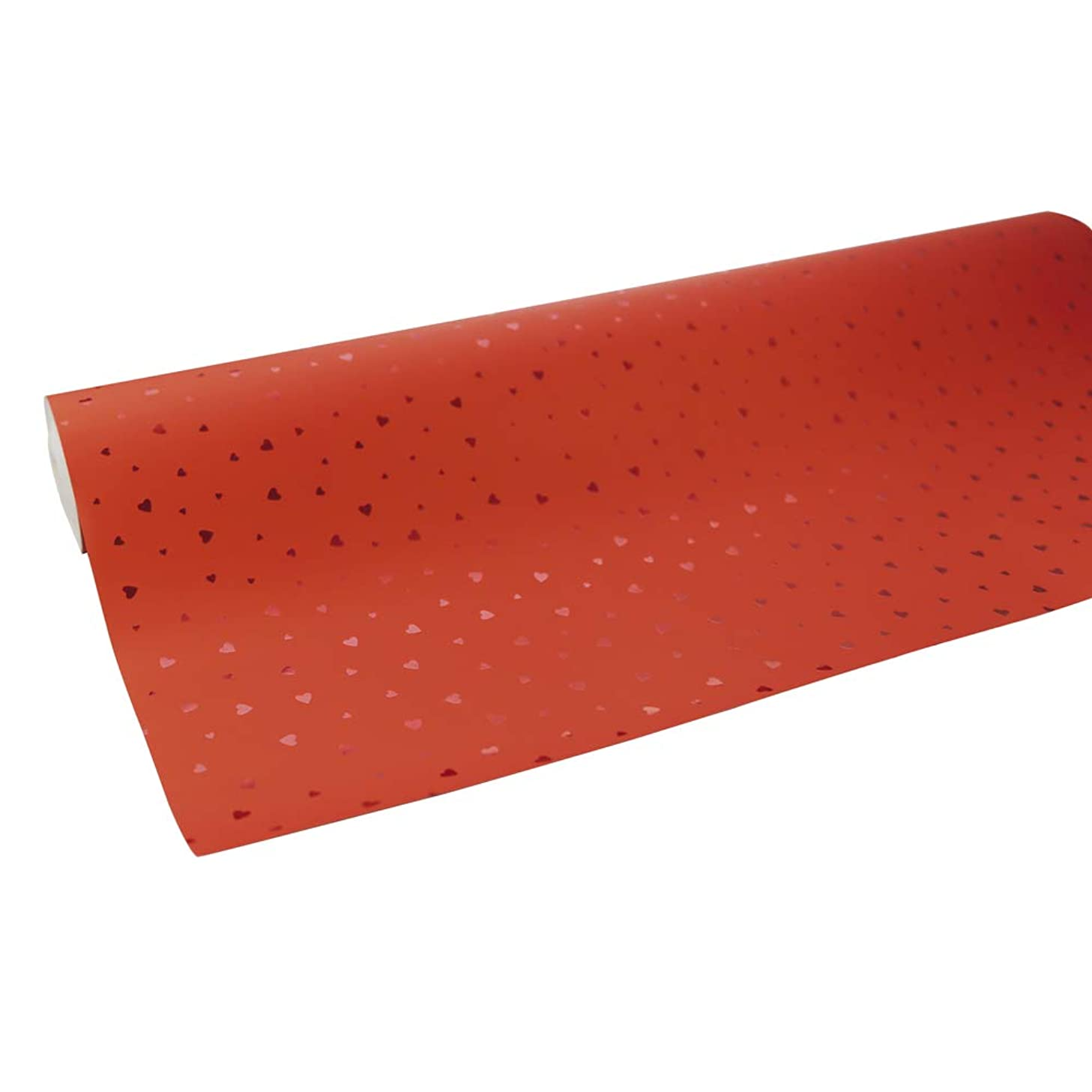 Clairefontaine 50 m x 0.70 m Premium Long Roll Wrapping Paper, Red Hearts