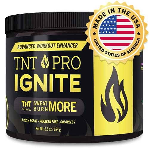 Stomach Fat Burner Sweat Cream by TNT Pro Ignite - Body Slimming Cream with Heat Sweat Technology - Thermogenic Weight Loss Workout Enhancer