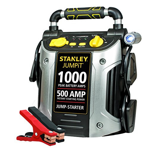 STANLEY J509 JUMPiT Portable Power Station Jump Starter: 1000 Peak/500 Instant Amps, USB Port, Battery Clamps
