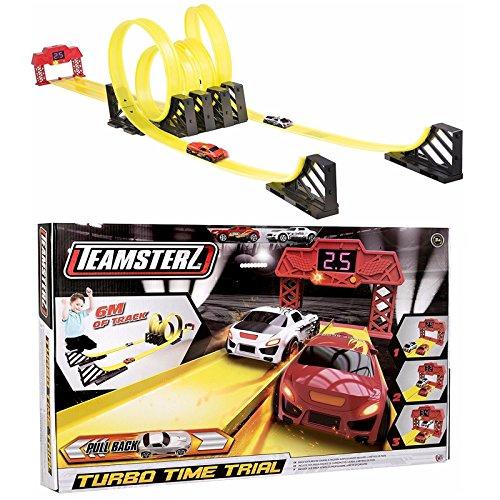 Teamsterz Turbo Time Trial Track Play Set Racing Auto Spielzeug Kinder Spiel NEU