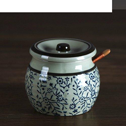 MYITIAN onderlak speciale keramische vaas Japanse bestek handgeplakt het glas voor specerijen keuken zoutvaatje vaas snoepjes