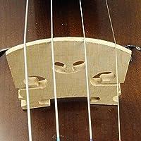 プレミアム品質のバイオリンブリッジウッドバイオリンブリッジバイオリンブリッジセットバイオリンの練習用(1/8 violin size, five packs)