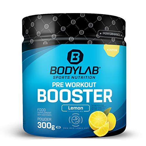 Bodylab24 Pre Workout Booster 300g   Energy Drink vor dem Training   Pulver mit Aminosäuren und Koffein   Zitrone