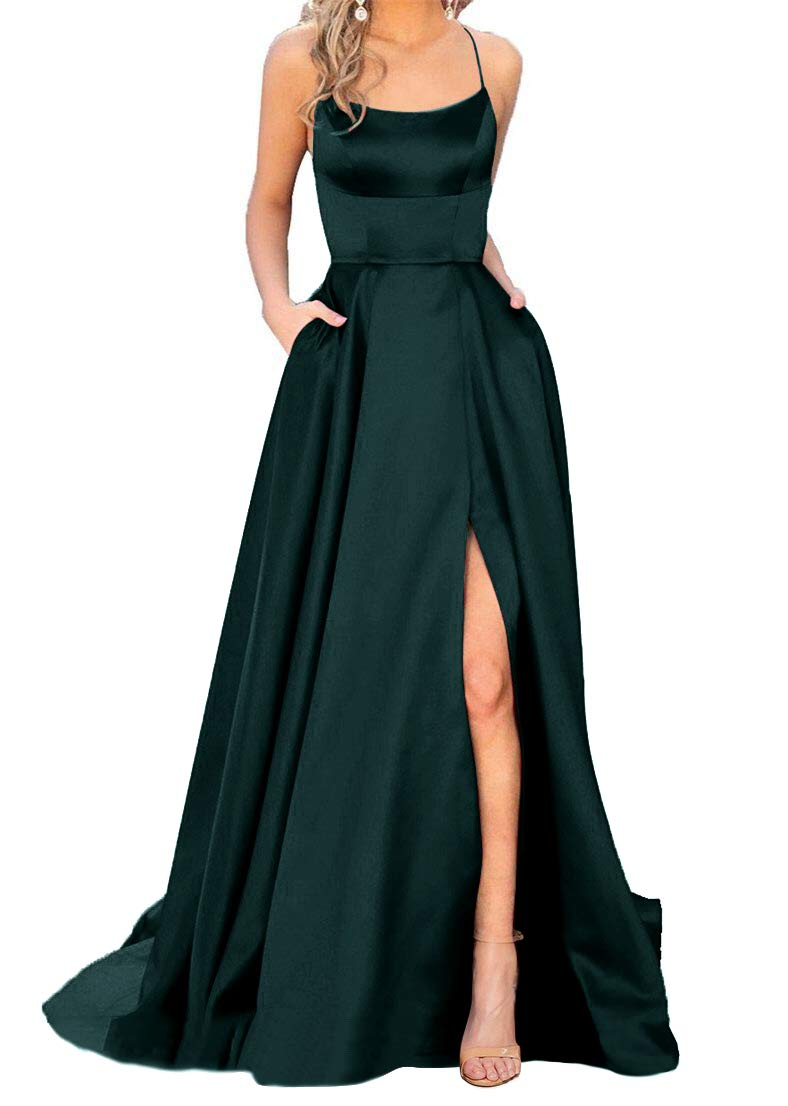 Prom Dresses - Women's Beaded Prom Party Dresses 2020 Long Chiffon Bridesmaid Gowns