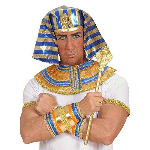 NET TOYS Sceptre de Pharaon doré Roi Sceptre de Roi Reine Prince Princesse déguisement Accessoire régent régente Costume Accessoires