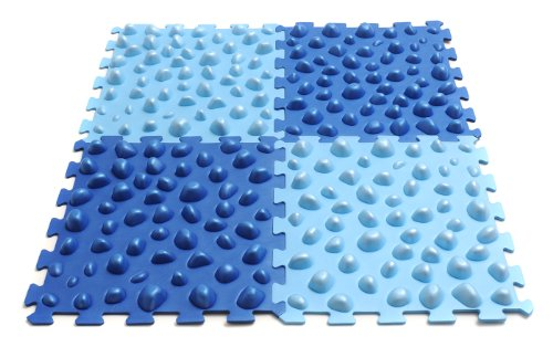Yogistar Massageboard Fuß Set 4 Stück - Blau