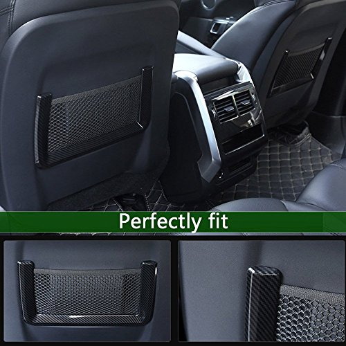 en Plastique ABS Rangée arrière Siège Arrière Net Cadre Garniture Couverture Style Fibre De Carbone pour Range Rover RR Sport 2014-2017