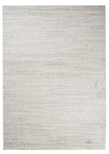 Carpeto Rugs Tapis pour Salon Uni Moderne - Tapis Poils Courts - Petit & Grand Tapis de Salon, Chambre, Cuisine - Gris Clair 200 x 290 cm