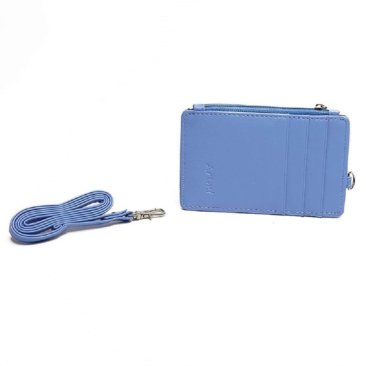 Artmi Womens RFID Blocking Card Holder Id lanyard Staff ID Card Holder Name Card Case With Neck Strap