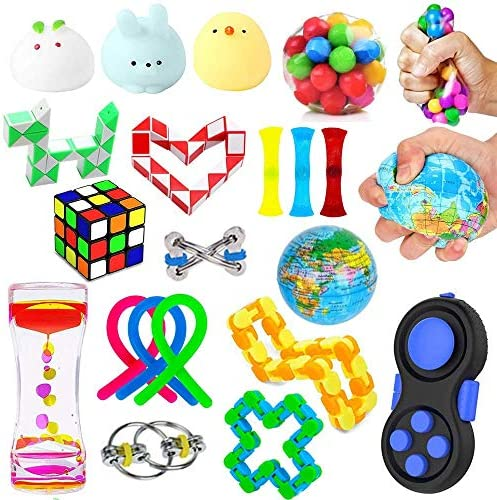 21 Pack Sensory Fidget Toys Set Stress Relief Hand Toys for Adults Kids ADHD ADD Anxiety Autism product image