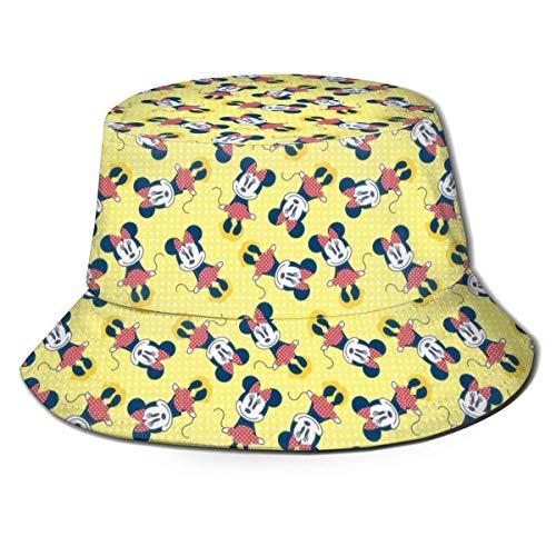 JaOUIY Lustiger Minnie Mouse Eimer Sonnenhut für Männer Frauen -Protection Packable Summer Fisherman Cap für Angeln, Safari, Beach Boating Black