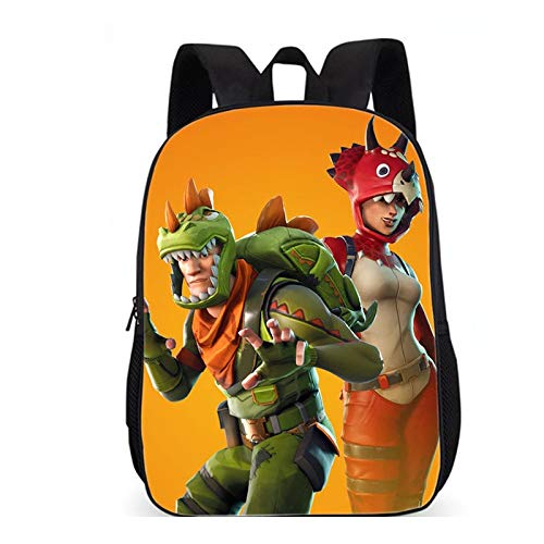FLAMENCO_STORE Children Schoolbag Battle Royale Backpack Lovely Cartoon Character Backpack for Boys and Girls