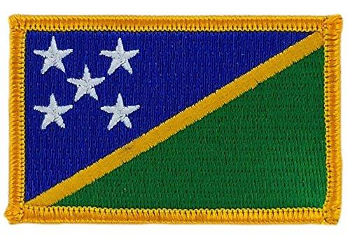 Patch Aufnäher bestickt Flagge Salomon Inseln zum Aufbügeln Abzeichen Backpack