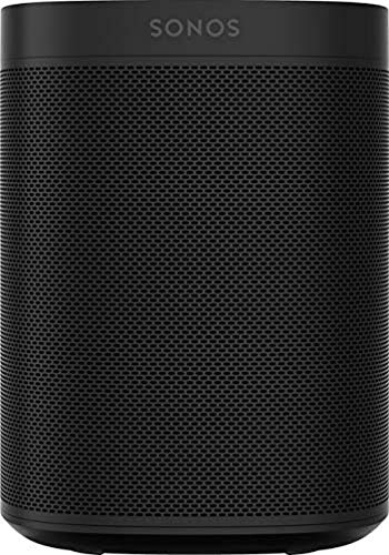 Sonos One Smart Speaker Negro - Altavoz WLAN Inteligente con Control por Voz Alexa y airplay - Altavoz multiroom para Streaming Ilimitado de música Negro.