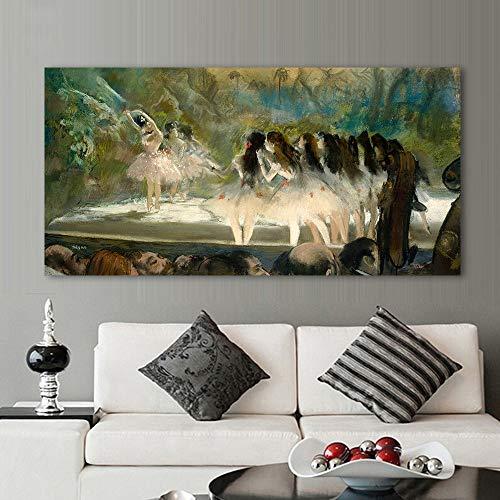 N / A Rahmenloses Gemälde Ballett im Pariser Opernhaus Moderne Leinwand Kunst WanddekorationZGQ7347 40x80cm