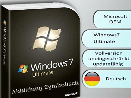 Windows 7 Ultimate 64 Bit DVD + Lizenzsticker, Multilingual, frustfreie Lieferung