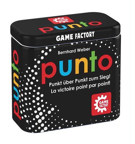 Game Factory 646214 Punto, Mini-Kartenspiel in handlicher Metalldose, Punkt zum Sieg