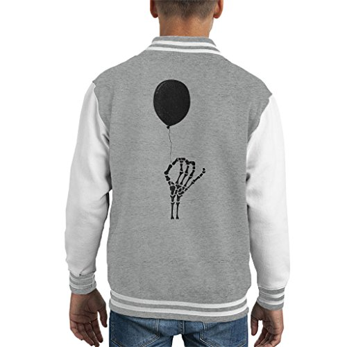 Cloud City 7 Balloon met Skull Hand Kid's Varsity Jacket