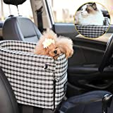 DOTOUUD Small Dog Cat Booster Seat ON Car Armrest Perfect for Small Pets | Included Safety Tethers Included | Suitable for Most Car Deluxe Deluxe Interactive Pet Seat(Single Door armrest)…