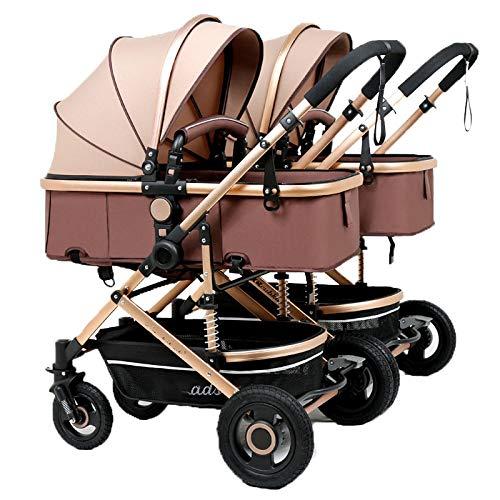 Defect Der abnehmbare, Faltbare Kinderwagen fr Zwillingskinderwagen kann auf dem zweiten Kind sitzen, das EIN doppeltes Kind trgt