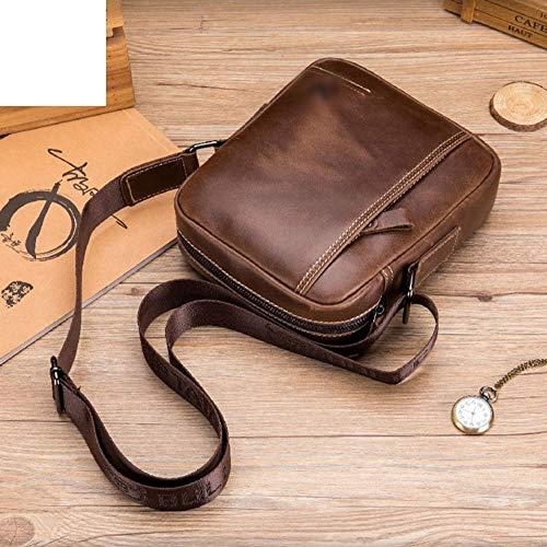 Confortable Sac à Main à bandoulière Sac à Main Messenger Bag Sac à bandoulière en Cuir for Homme Élégant (Couleur : Marron)