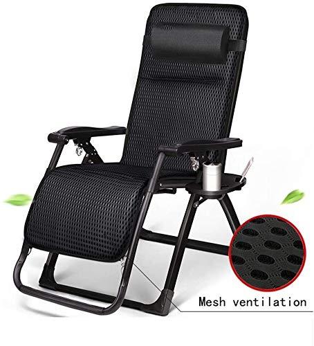 Aoyo - Silla de jardín ajustable con asiento de gravedad cero para sillas de jardín con porche de jardín con soporte para sillas de 200 kg