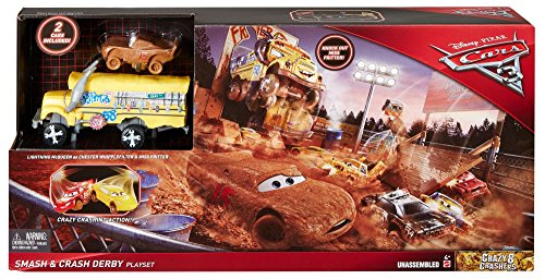 Mattel Disney Cars DXY95 - Disney Cars 3 Cooles Crash-Derby Spielset