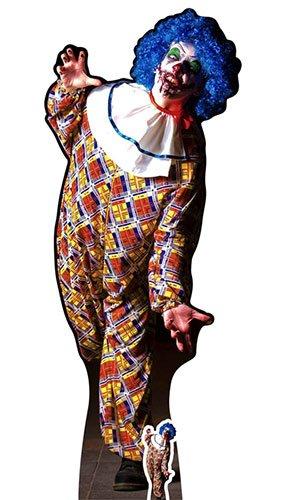 Star Aussparungen ES IST EINE sehr unheimlich Stecker Clown Karton inkl. Halloween Desktop Ausschnitt, Holz, Mehrfarbig, 175x 68x 175cm