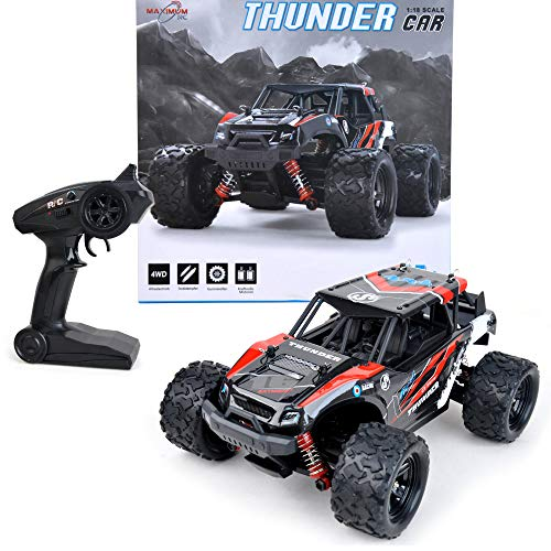 FunTomia Maximum RC Monster Truck - 4WD Thunder Car 36km/h ferngesteuertes Auto - Ersatzteile (1x Monster Truck / Thunder Car)