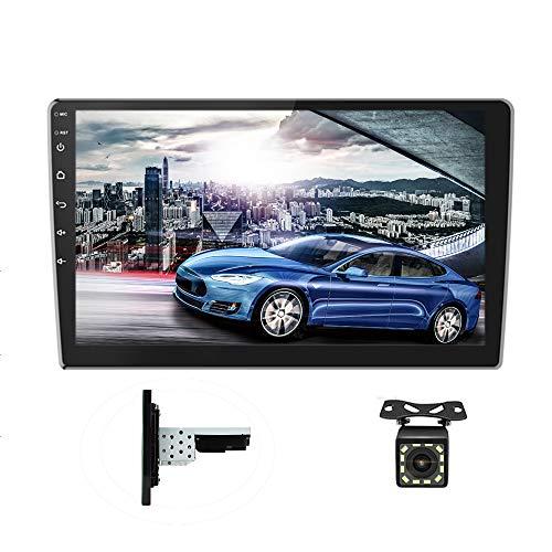 Androides Autoradio GPS 1DIN 2DIN CAMECHO 10 Zoll voller Touch Screen Bluetooth WiFi FM Empfänger Handy-Spiegel-Verbindung Doppel-USB + Rückfahrkamera