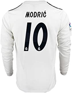 a247c0fdec2 18 19 Season Real Madrid  10 Luka Modric Home Mens Long Sleeve Soccer Jersey