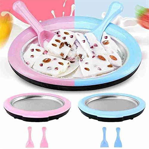 Eisplatte, Eis Teppanyaki Platte, Eiscreme Rollen Machine Mit 2 Spateln, DIY Instant Eismaschine Für Frozen Yoghurt Sorbet Gelato