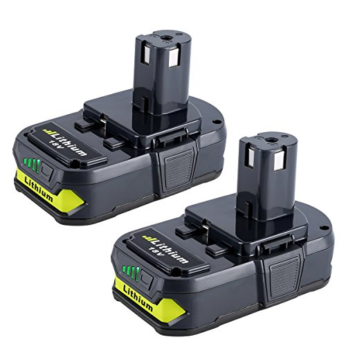 Biswaye 2 Pack 18V Lithium Battery for Ryobi P102, 2.5Ah Replacement Battery for Ryobi ONE+ Plus 18V Cordless Power Tools Lithium Battery P102 P103 P104 P105 P107 P108 P109 P161